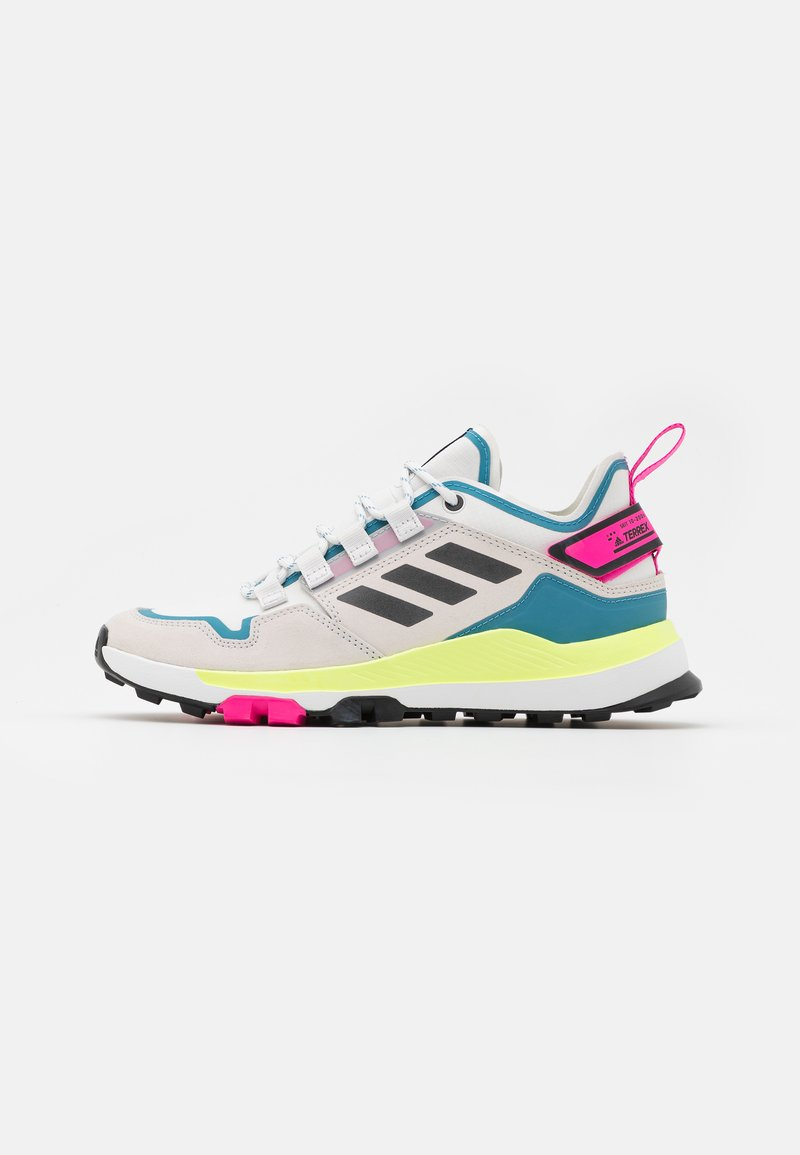 adidas Performance - TERREX HIKSTER - Outdoorschoenen - crystal white/core black/hi-res yellow