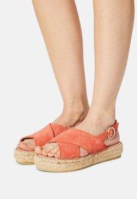 Steven New York - MARLIE - Platform sandals - coral suede - 0