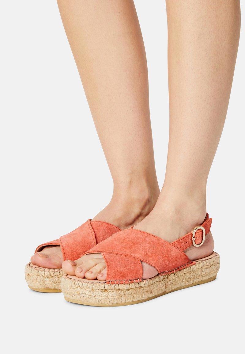 Steven New York - MARLIE - Platform sandals - coral suede