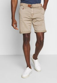 INDICODE JEANS - CONER - Shorts - greige - 0