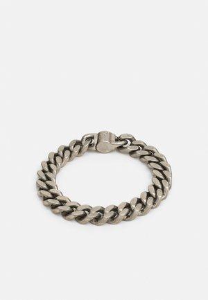 CURB UNISEX - Armband - antique silver-coloured shiny