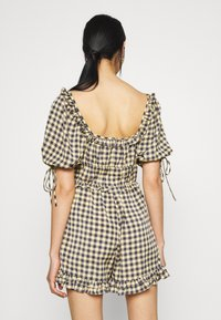 Missguided - GINGHAM PLAYSUIT - Overal - yellow - 2