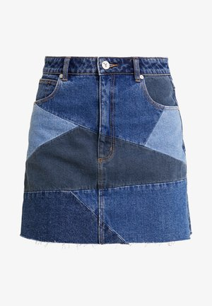 A SKIRT - A-line skirt - darl-blue denim