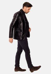 LEATHER HYPE - HYPE BLAZER - Leather jacket - black - 4