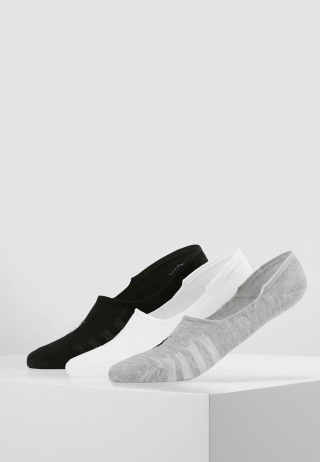 BLEND-FLAT 3 PACK - Trainer socks - black/white/grey