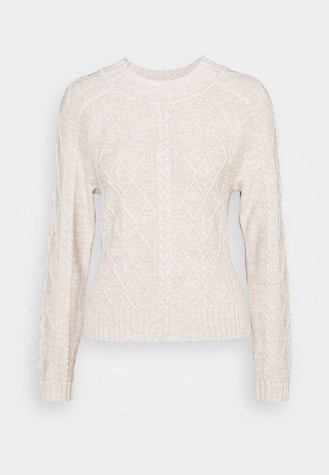 CABLE CREW - Sweter - marled oatmeal heather