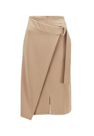 VAMENEO - A-line skirt - beige