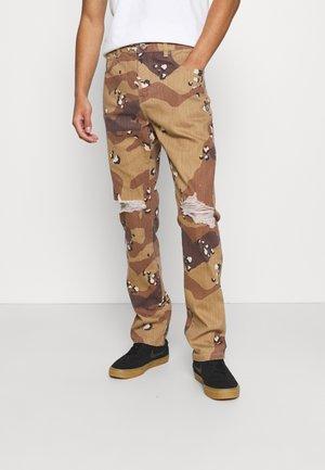 PANT - Jeans Straight Leg - sand