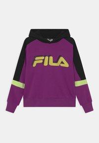 Fila - JAZZ CROPPED HOODY - Sweatshirt - sparkling grape/black/sharp green - 0