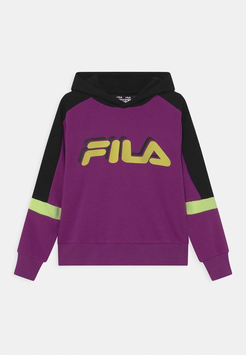 Fila - JAZZ CROPPED HOODY - Sweatshirt - sparkling grape/black/sharp green