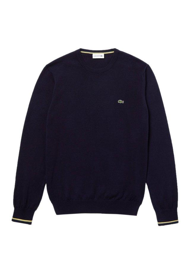 Sweater - bleu marine / blanc