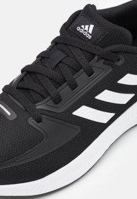 adidas Performance - RUNFALCON 2.0 UNISEX - Neutral running shoes - core black/footwear white/silver metallic - 5