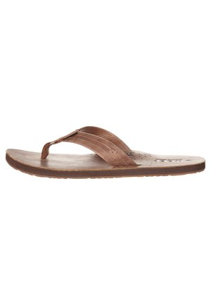 DRAFTSMAN - T-bar sandals - bronze brown