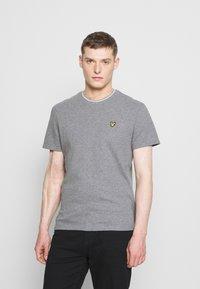Lyle & Scott - WAFFLE - Basic T-shirt - mid grey marl - 0