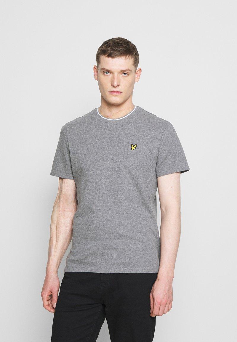 Lyle & Scott - WAFFLE - Basic T-shirt - mid grey marl