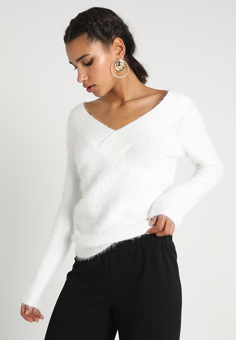 Morgan - MOOP - Strickpullover - off white