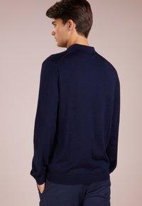 Polo Ralph Lauren - PLACKET - Stickad tröja - hunter navy - 2