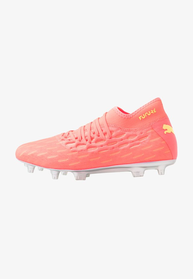 FUTURE 5.2 NETFIT OSG FG/AG - Moulded stud football boots - energy peach/fizzy yellow
