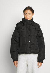 Sixth June - SHORT PUFFER JACKET HOOD - Winter jacket - black - 0