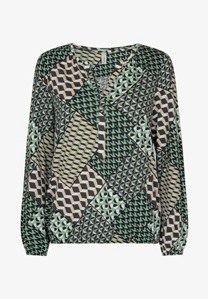 Long sleeved top - mineralgrün