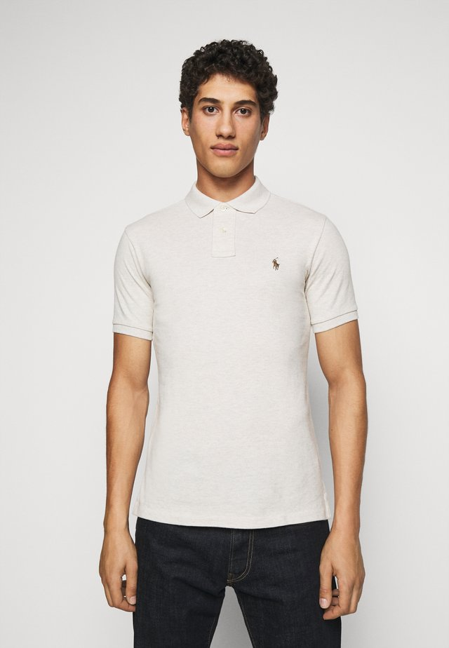 SLIM FIT MODEL - Poloshirt - american heather/