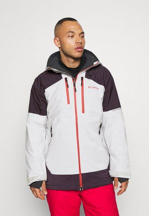 WILD CARD JACKET - Snowboard jacket - nimbus grey/dark purple