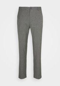 Calvin Klein Tailored - MOULINE GRID TAPERED PANTS - Trousers - khaki - 3