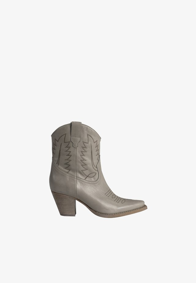 HARA - Cowboy/biker ankle boot - grey