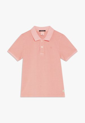 GARMENT DYED - Polo shirt - neon coral