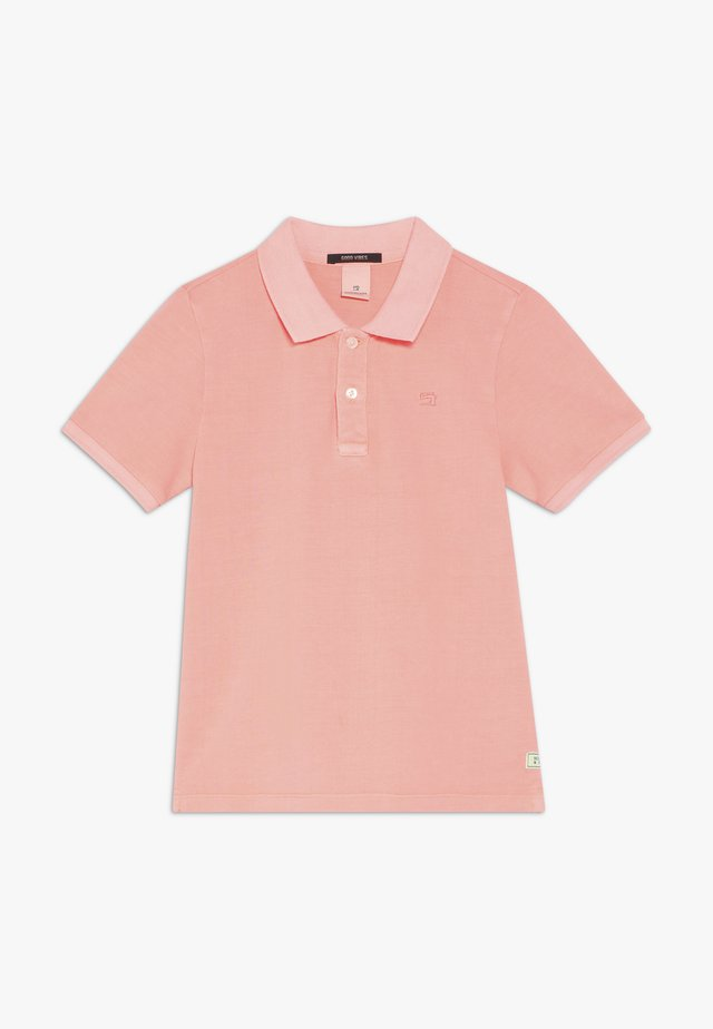 GARMENT DYED - Polo - neon coral