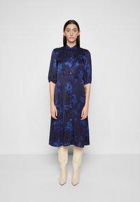 PS Paul Smith - DRESS 2-IN-1 - Shirt dress - dark blue - 0