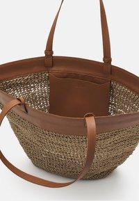 Zign - LEATHER - Shopping bag - cognac - 2