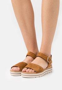Gabor Comfort - Platform sandals - camel - 0