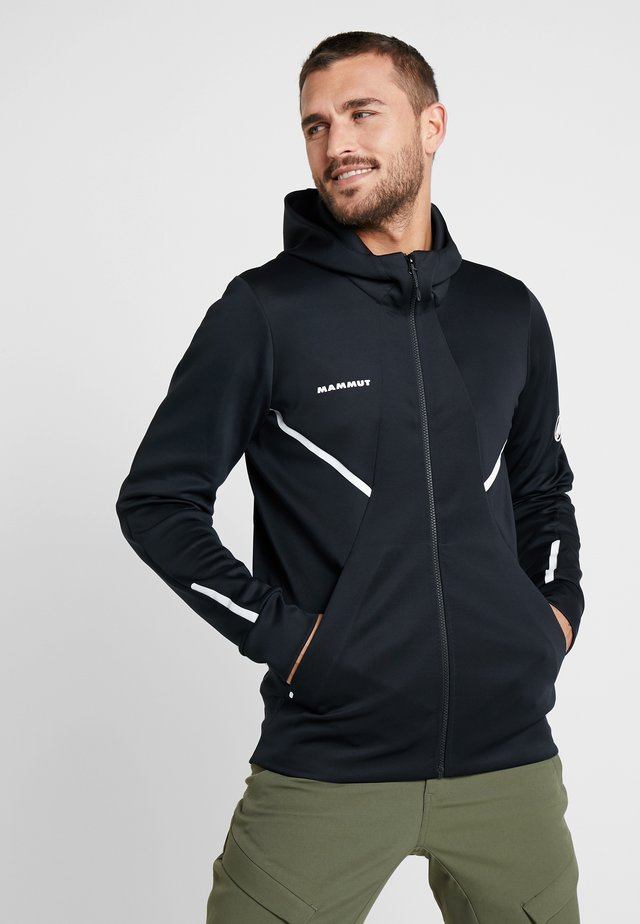 AVERS HOODED JACKET MEN - Forro polar - black
