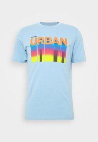 JCOHOFF TEE CREW NECK SLIM - T-shirt med print - dusk blue