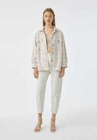 PULL&BEAR - Button-down blouse - sand - 1