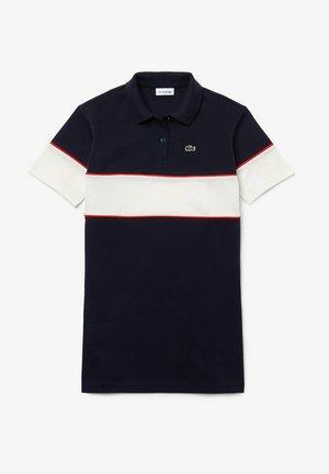 Day dress - navy blau / weiß / rot