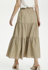 Kaffe - KAMOLLY - Maxi skirt - classic sand - 2