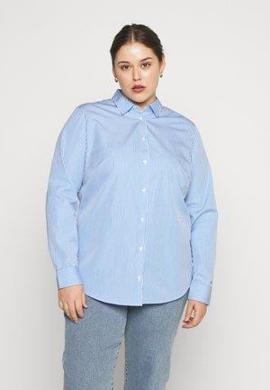 ESSENTIAL - Button-down blouse - white/copenhagen blue