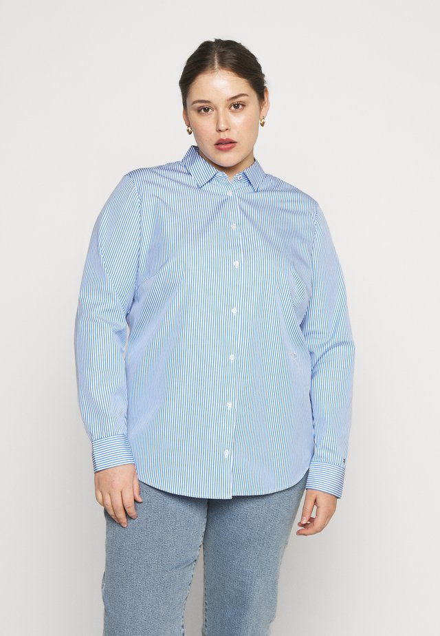 ESSENTIAL - Koszula - white/copenhagen blue