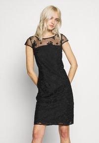 Esprit Collection - DEGRADÉ FLORAL - Sukienka koktajlowa - black - 0