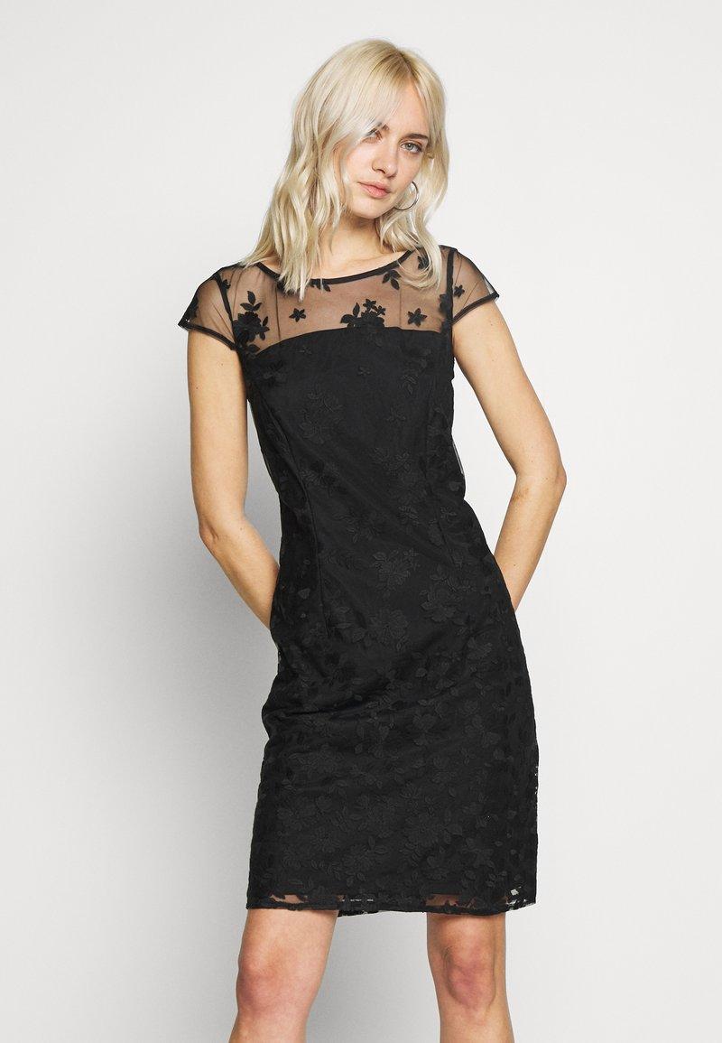 Esprit Collection - DEGRADÉ FLORAL - Sukienka koktajlowa - black