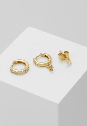 LIGHTNING AND STAR EAR PARTY SET - Øreringe - gold-coloured
