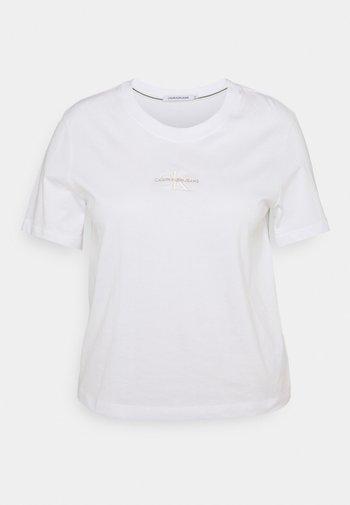 MONOGRAM LOGO TEE - Basic T-shirt - bright white