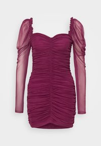 Missguided - LONG SLEEVE DRESS - Cocktail dress / Party dress - plum - 0