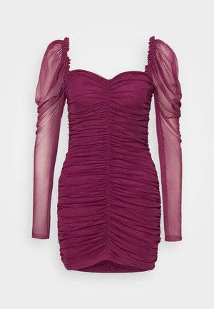LONG SLEEVE DRESS - Vestido de cóctel - plum