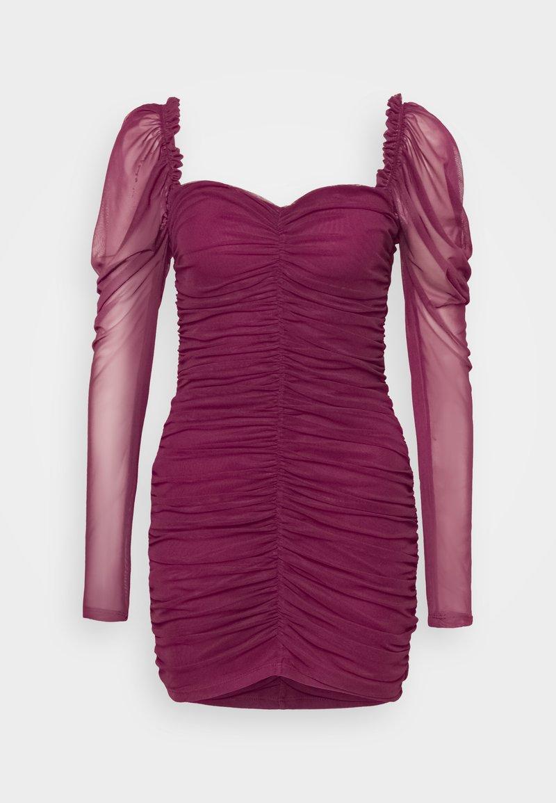 Missguided - LONG SLEEVE DRESS - Cocktail dress / Party dress - plum
