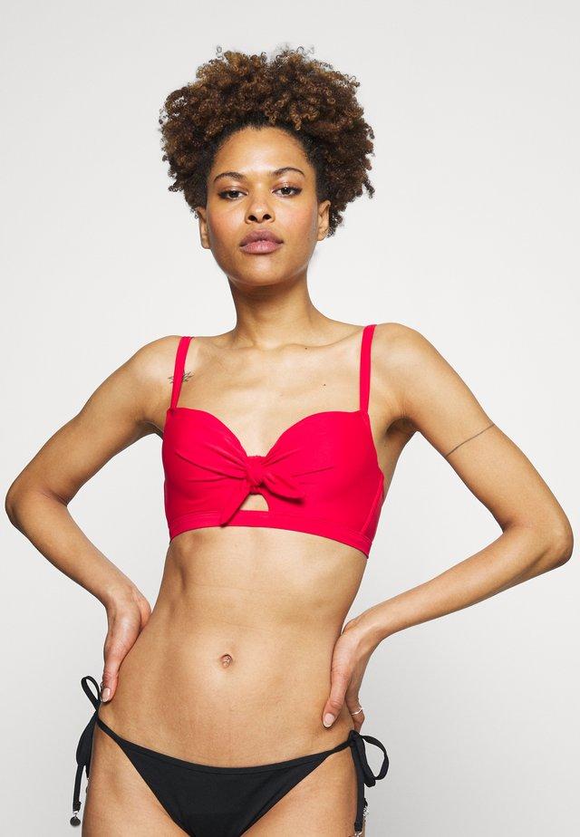 HORIZON PADDED UNDERWIRED TIE - Bikini top - red