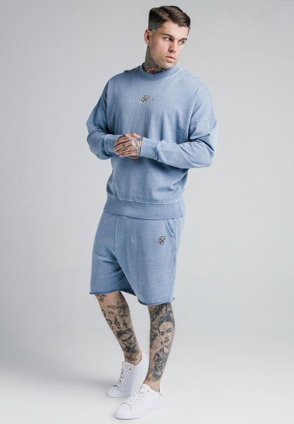 SIKSILK CREW - Bluza - washed blue/niebieski denim Odzież Męska YPQO