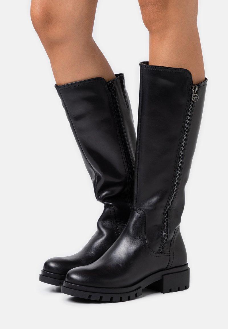 Tamaris - BOOTS - Vysoká obuv - black